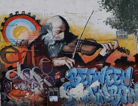 скрипач (граффити)