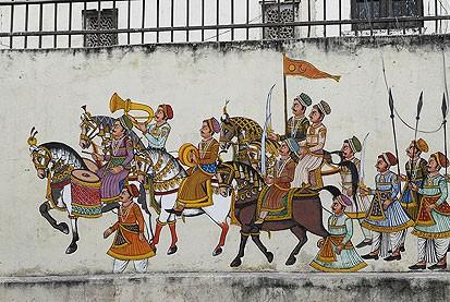 Роспись на стенах Удайпура