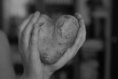 картофель в форме сердца