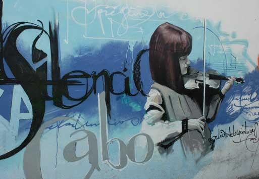 скрипачка (граффити)